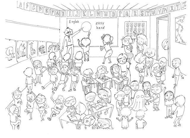 děti ve třídě