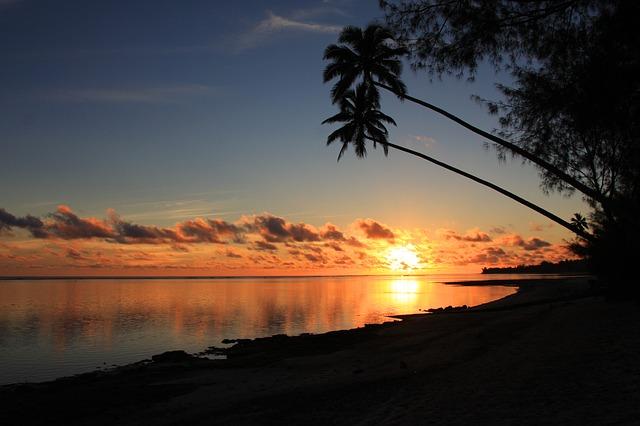 Rarotonga západ slunce