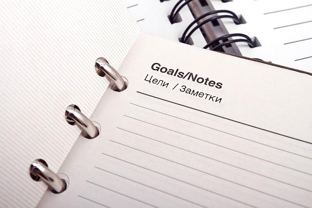 notes na cíle