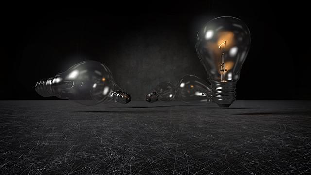 žárovky na zemi