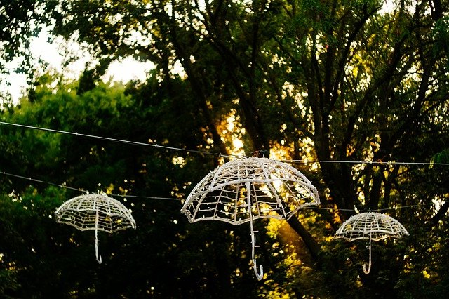 dekorační deštníky