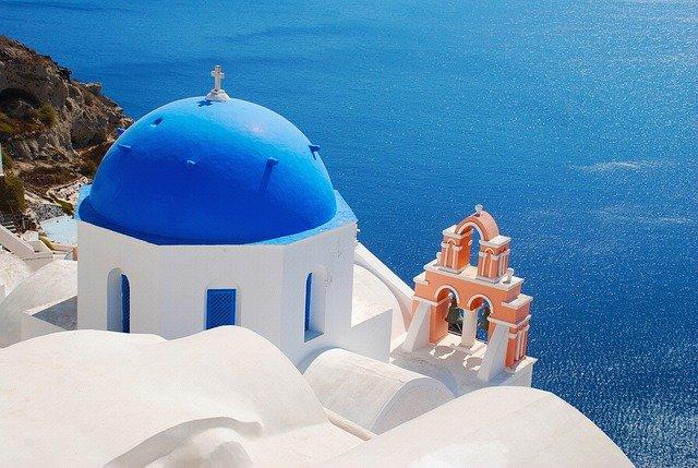 kostel na Santorini