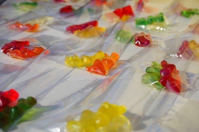 cukrovinky v sáčcích