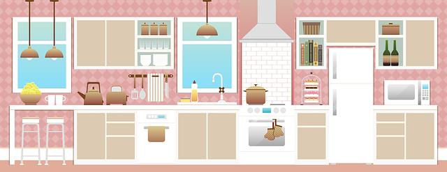 Kresba kuchyňské linky