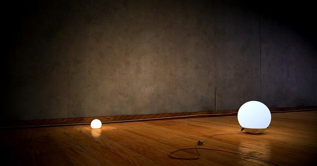 podlaha se světli