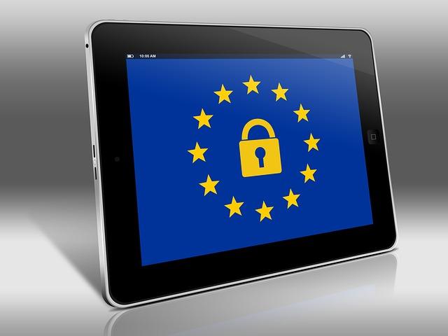 tablet a znak EU