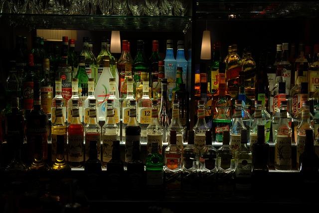 lahve s alkoholem