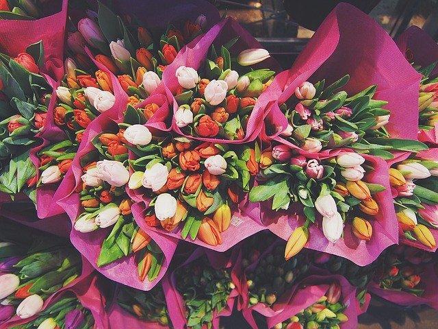 kytice tulipánů na prodej